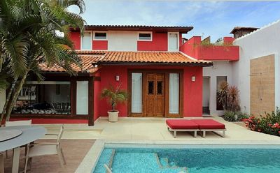 Photo for Beautiful residence just 60 meters from the beach Geribá