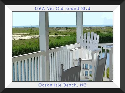 Photo for Gorgeous 4 Bed/4 Bath 1st Floor Condo with Panoramic Ocean and Marsh Views