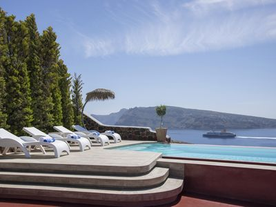 The villa offers a heavenly sea view retreat for luxurious and memorable holidays.