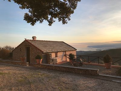 Photo for Villa With Fantastic Sea Views, Surrounded By Vineyards