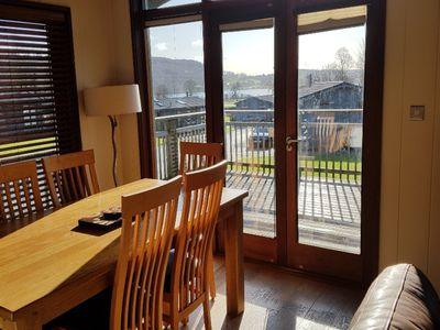 Photo for Leafy Nook - 5 star cedar Lodge on an elevated site overlooking Esthwaite Lake
