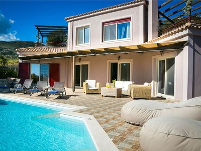 Photo for Luxury spacious 2 Bedroom Villa with Private Pool and panoramic sea views over the Ionian sea