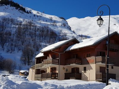 Photo for Quiet south facing apartment near the slopes with a view of the Galibier