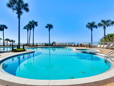 Photo for Coastal condo in an upscale complex w/ resort pool, hot tubs, & private balcony