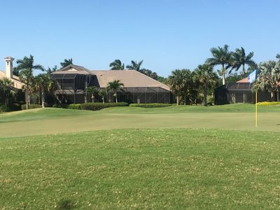Photo for Gated community, on the golf course estate home. 9 miles of biking/walking trail