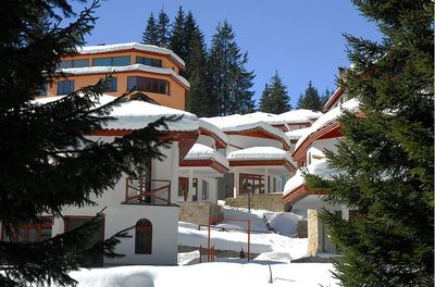Ski Chalets at Pamporovo Village - the kids think you have arrived in Narnia