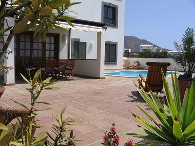 Terrace with pool