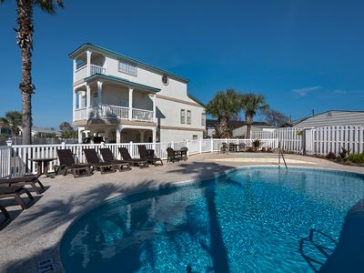 Photo for 3-Story House with Gulf View, Pool & Hot Tub! Near Pier Park!