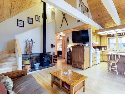Photo for Dog-friendly mountain cabin in the pines w/ on-site hot tub & shared pool access