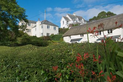 The cottage taken from the garden below