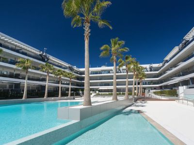 Photo for 4 bedrooms Frontal sea view apartment in the best ibiza complex with concierge