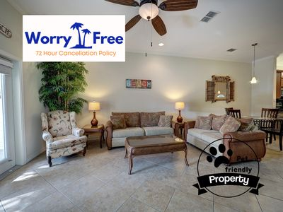 Photo for Beautiful poolside property with garage at Palm Bay Village, Pet-Friendly