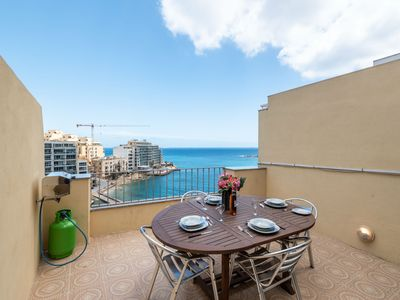 Photo for Getawaysmalta- Spinola Bay 1-bedroom Seafront Penthouse St Julian near Paceville