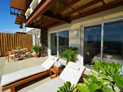Photo for Ocean View, Private Terrace/Pool, 5 Star, Full Service, in Town, Club House, Gym