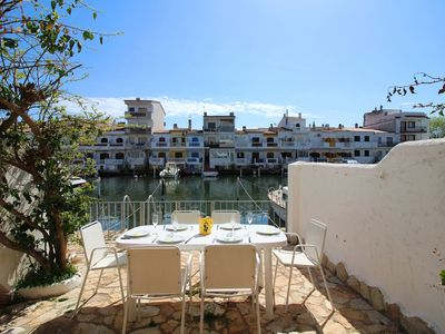 Photo for Cozy holiday home in Empuriabrava with terrace and jetty