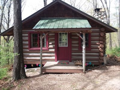 Photo for 100 year old log cabin spend your special weekend with us