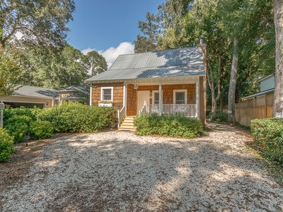 Photo for Little Gingerbread Cabin 2 Bedroom 2 Bath Home with Rocking Chair Front Porch near Beach & Village