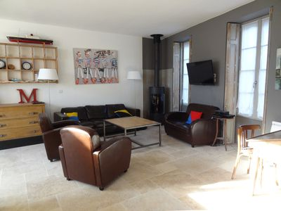 Photo for ANTIOCHE At the heart of the village, beautiful charming house type 5 with terrace.