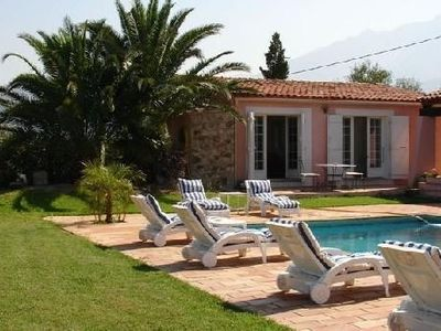 Photo for Suite 47m2, any comfort, Pool and Stunning Views Of The Gulf Of Calvi