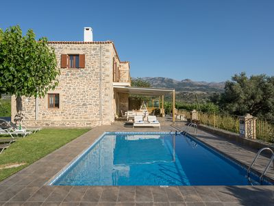 Photo for A traditional, beautiful decorated stone-built villa with private pool