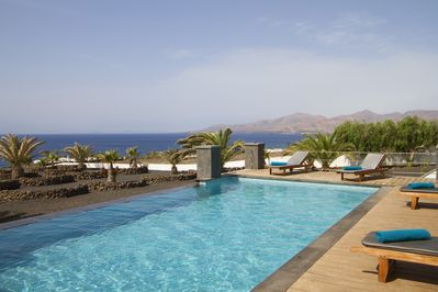infinity pool with uninterrupted sea views