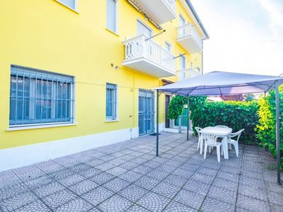 Photo for Comfortable three-room flaton the ground floor with private garden, parking, 300 m from the beach