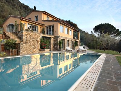 Photo for CASA TUA NEWLY RENOVATED HILLSIDE VILLA, 300 M² BREATH-TAKING POOL SEA VIEW