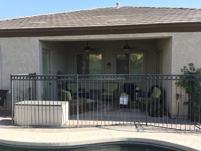 Safety Fence that Separates Covered Patio from Pool Area