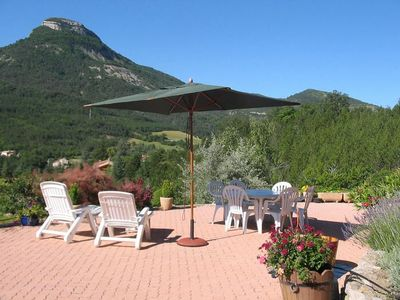 Photo for PRETTY VILLA IN HAUTE PROVENCE, HEATED POOL, PANORAMIC VIEW IN ORPIERRE