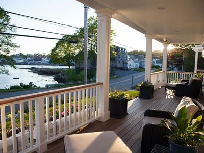 Photo for Gorgeous, NEW, Year-Round, 3 BR, 2.5 BA duplex unit in the heart of Boothbay Harbor