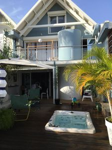 Photo for Villa Gosier 4ch with Jacuzzi and sea view