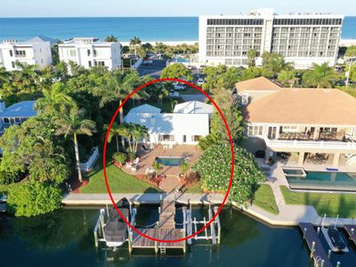 Photo for Luxurious Waterfront Home Walking Distance from Lido Beach and St Armands Circle