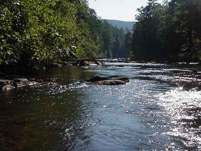 Enjoy wading, fishing or just sitting on the banks of the Toccoa River.