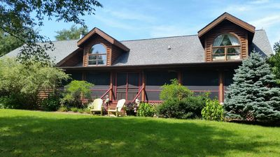 Photo for 5 Bedroom Heritage Log Home in Harbor Country - Perfect for Large Groups