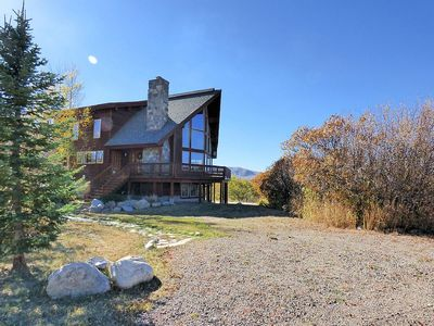 Photo for Secluded Private Steamboat Vacation Home Mountain Views Private Hot Tub Sauna
