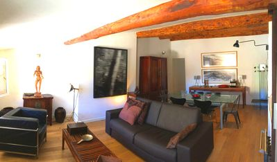 Photo for Charming apartment in the historic center - living room and bedroom