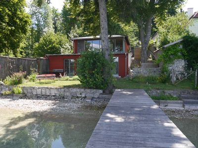 Photo for Holiday house at Pilsensee with direct lake access and footbridge