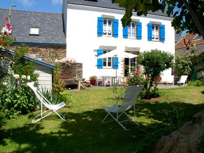 Photo for Large house Morbihan Groix Island oceanfront beach rental Locmaria 10 places