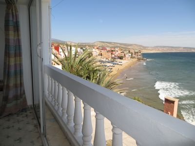 Balcony looking over Taghazout beach