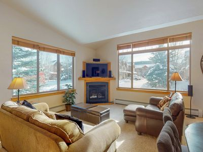Photo for NEW LISTING! Comfortable condo w/ private hot tub and fireplace - near shuttle