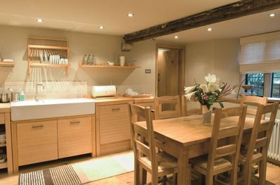 Ground floor: Large fully fitted kitchen with dining area