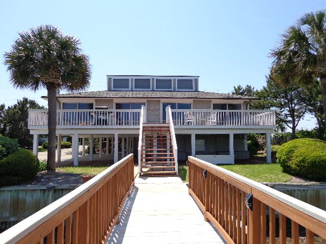 Private Boat Dock On Lollipop Bay Deep Water Access Parmele Isle Wrightsville Beach Nc