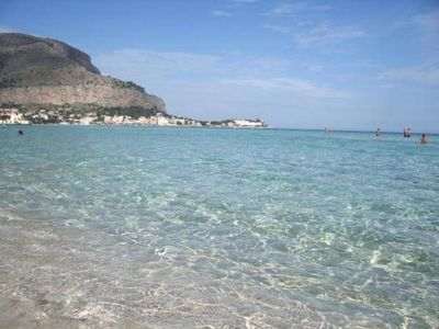 Photo for IN FRONT OF THE SEA - BEAUTIFUL SEASIDE-  only 20 meter from the beach - MONDELLO SQUARE -  PALERMO