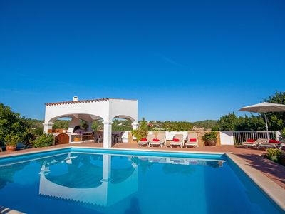 Photo for Finca Monterrey, typical ibizan property immersed in the greenery, with pool, sleeps 8.