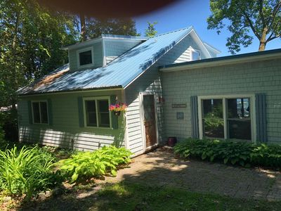 Photo for Beautifully renovated lakefront cottage with 2 bedrooms and large sleeping loft