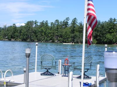 Photo for Family Friendly Lake Winnipesaukee Water Front.Boat launch across the street