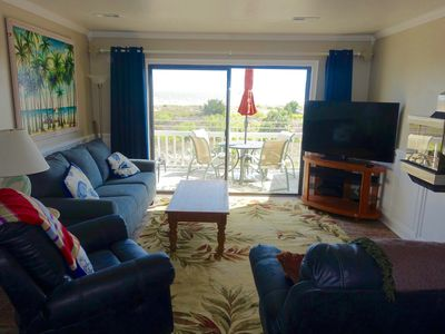 Photo for 2017 Newly Renovated,  Direct Oceanfront, 55' Plasma, Fireplace