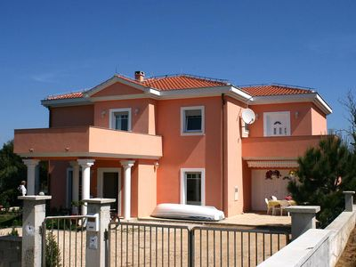 Photo for Four bedroom apartment with terrace and sea view Privlaka, Zadar (A-6208-a)