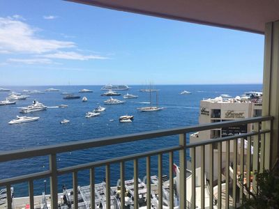 Photo for MONTE-CARLO Luxury APARTMENT overlooking CIRCUIT F1 GRAND PRIX and SEA