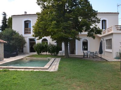 Photo for Charming country house with 2 steps of Aigues-Mortes & beaches, village center, quiet pool